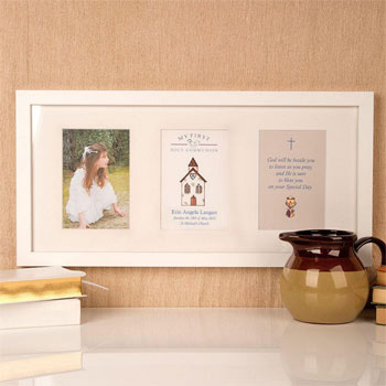 Premium Illustrated 1st Communion Church Design Wall Frame