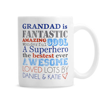 Personalised He Is Father's Day Daddy Ceramic Mug
