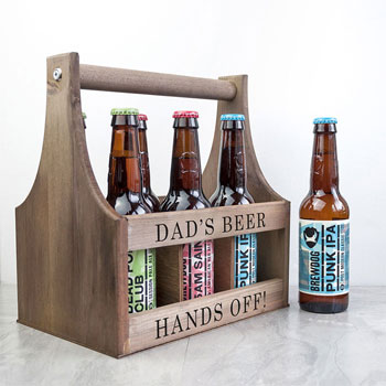 Personalised Wooden Beer Trug Any Text