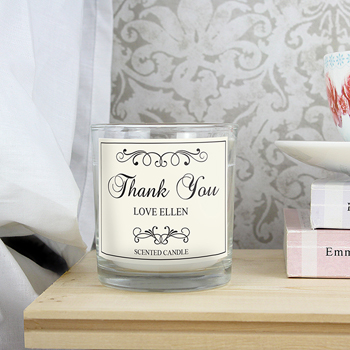 Personalised Black Swirl Scented Jar Candle