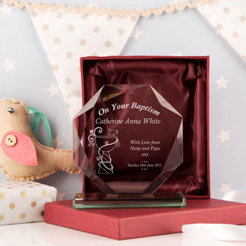 Personalised On Your Baptism Cut Glass Award