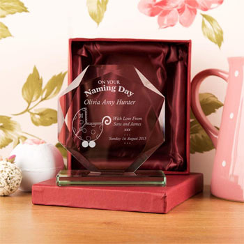 Personalised On Your Naming Day Cut Glass Award