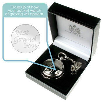 Personalised Engraved Grandson Gift Pocket Watch