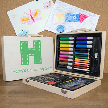 Personalised Children's Colouring In Art Set