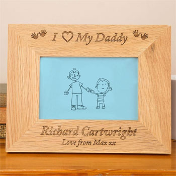Personalised Engraved Oak Daddy Photo Frame Keepsake Gift