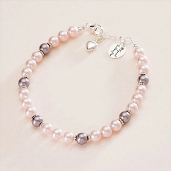 Sterling Silver and Pearls Goddaughter Bracelet