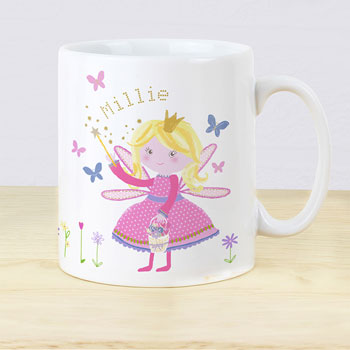Girl's Personalised Garden Fairy Plastic Drop Proof Mug