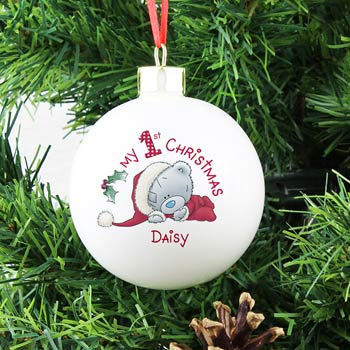 Me To You My 1st Christmas Personalised Bauble