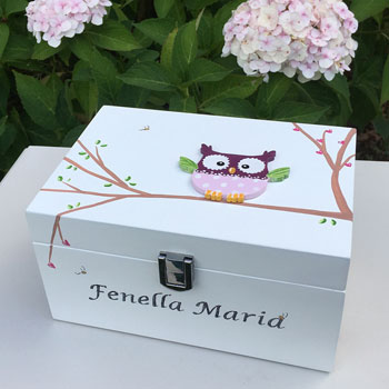 Personalised Hearts Jewellery Box