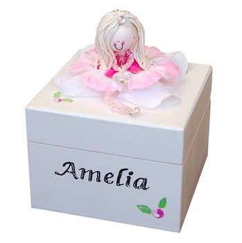Handmade Wooden Personalised Trinket Box Small