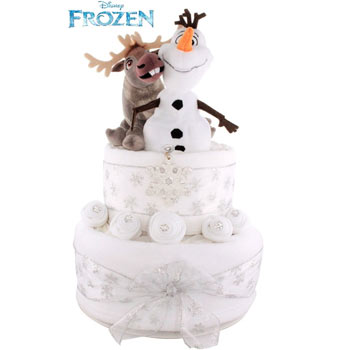 Frozen Olaf and Sven Two Tier Christmas Nappy Cake