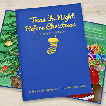 Personalised Twas the Night Before Christmas Embossed Book