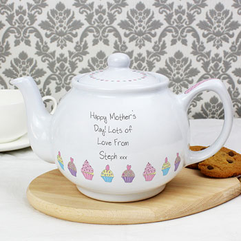 Personalised Cupcake China Teapot