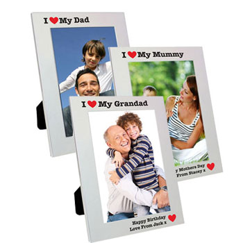 Personalised Aluminium 5x7inch I Heart Photo Frame