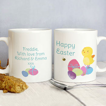 Personalised Easter Meadow Chick China Children's Mug
