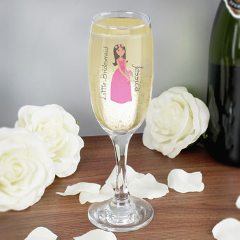 Personalised Fabulous Bridesmaid Flower Girl Flute