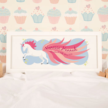 Magical Unicorn Framed Name Print