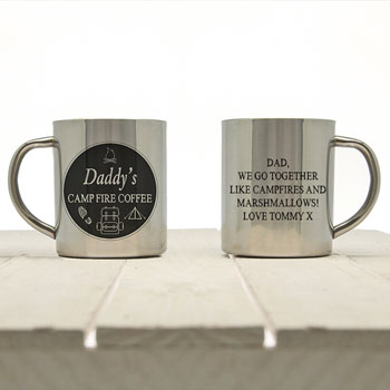 Daddy's Personalised Campfire Coffee Outdoor Mug