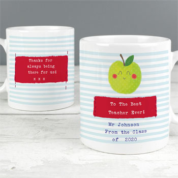 Happy Apple Personalised China Teacher Mug