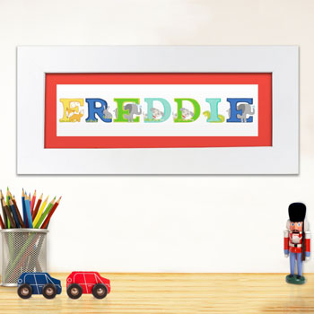 Personalised Animal Alphabet Baby Name Frame