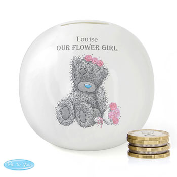 Personalised Me To You Girl's Wedding Flower Girl Money Box
