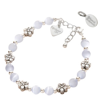 Flower Girl or Bridesmaid Bracelet With Sterling Silver Tag