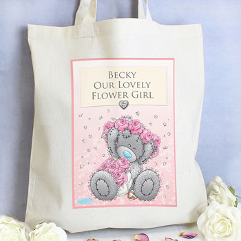 Personalised Me To You Tatty Teddy Girls Wedding Cotton Bag