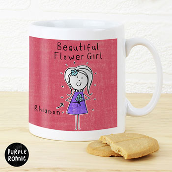 Personalised Purple Ronnie Female Wedding Mug