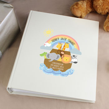 Personalised Noah's Ark Christening Baby Photo Album