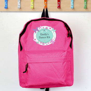 Personalised Butterfly Pink Backpack Bag