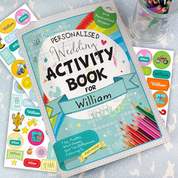 Kid's Personalised Wedding Activity Book with Stickers