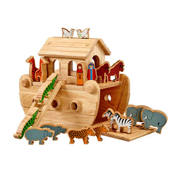 Fair Trade Lanka Kade Junior Natural Wooden Noah's Ark Toy