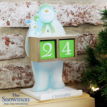 The Snowman and the Snowdog Personalised Advent Calendar