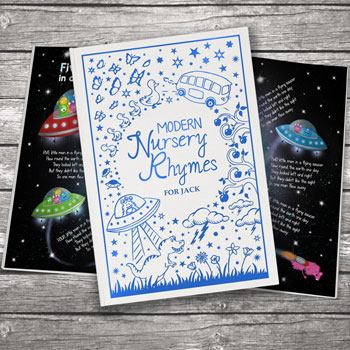 Personalised Modern Nursery Rhymes Embossed Hard Cover Book