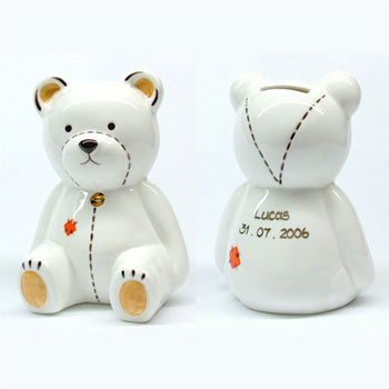 Personalised Teddy Money Box