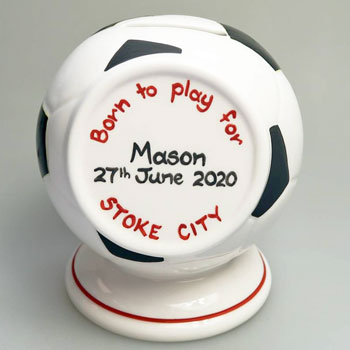 Personalised Bone China Football Money Box