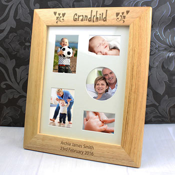 Personalised 10x8 Inch Grandchild Wooden Photo Frame