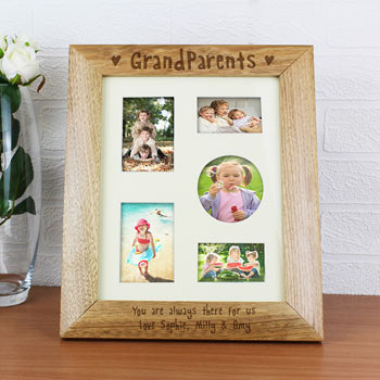 Personalised 10x8 Inch Grandparents Wooden Photo Frame