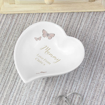 Personalised Secret Garden Ceramic Ring Dish Any Text