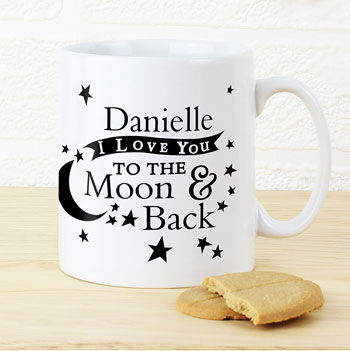 Personalised To the Moon and Back Mug Any Name and Message