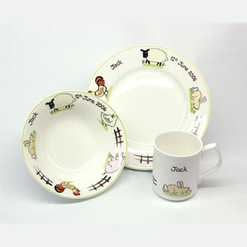 Personalised Farmyard Dinner Set