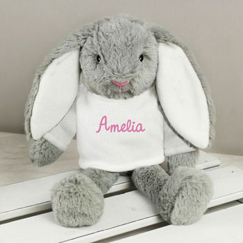 Personalised Pink Name Bunny Girl's Easter Gift