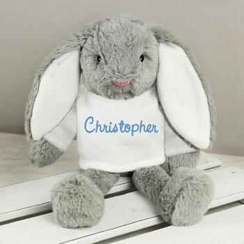 Personalised Blue Name Bunny Boy's Easter Gift