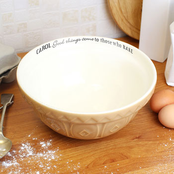 Personalised Good Things Baking Bowl