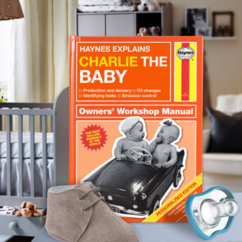 Personalised Haynes Explains Babies Manual For New Parents