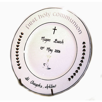 Hand Personalised Bone China 1st Holy Communion Plate