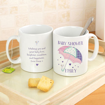 Personalised Baby Shower Umbrella China Mug