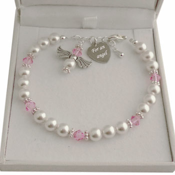 Guardian Angel Swarovski Birthstone Bracelet