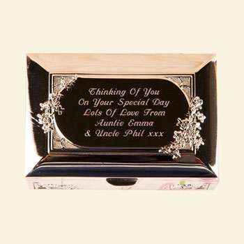 Personalised Silver Plated Confirmation or Communion Box