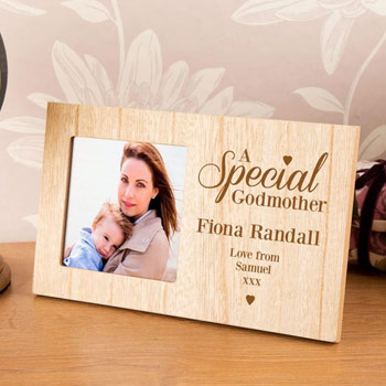Special Godmother Personalised Wooden Photo Frame